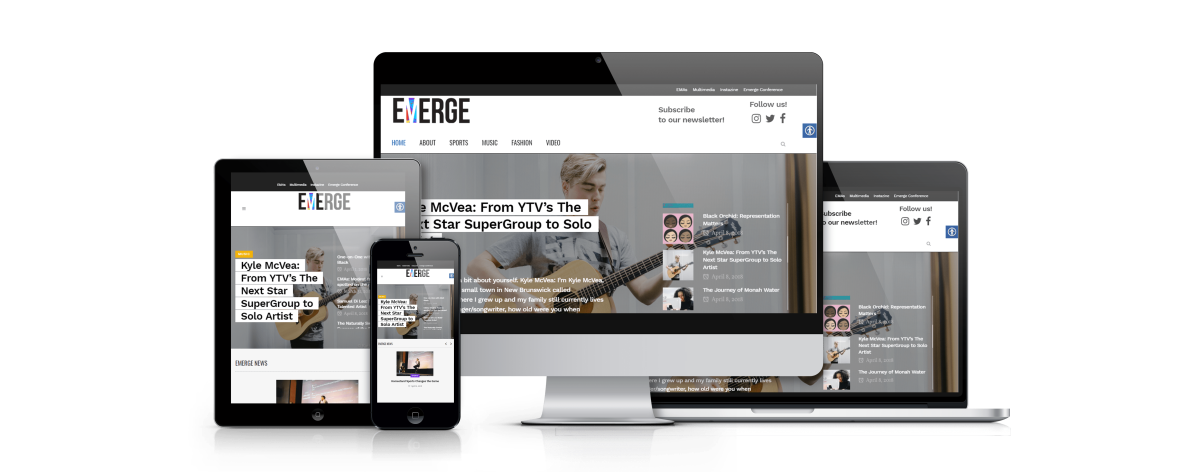 responsive web magazine visuals