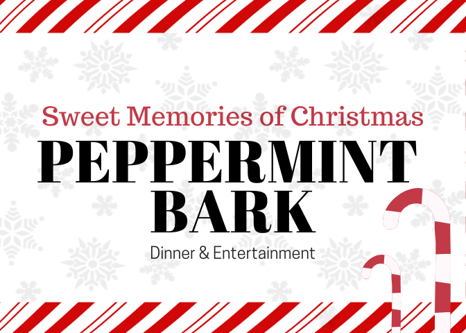 peppermint bark table setting