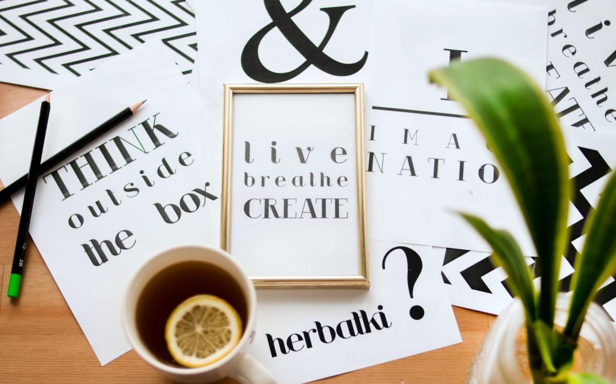 live, breathe, create in gold frame
