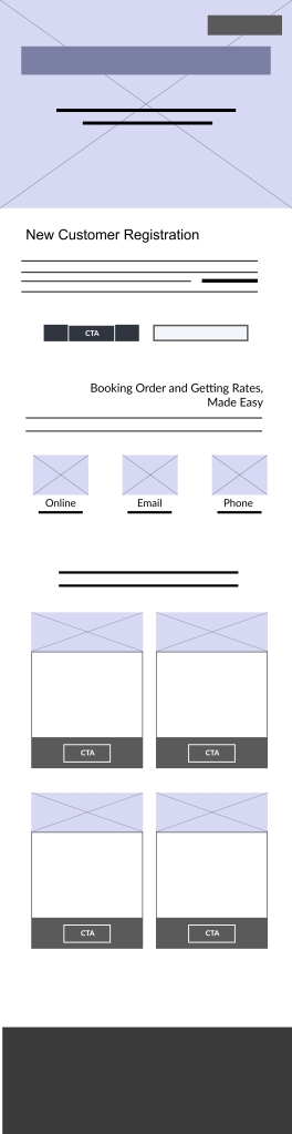 wireframe for registration page
