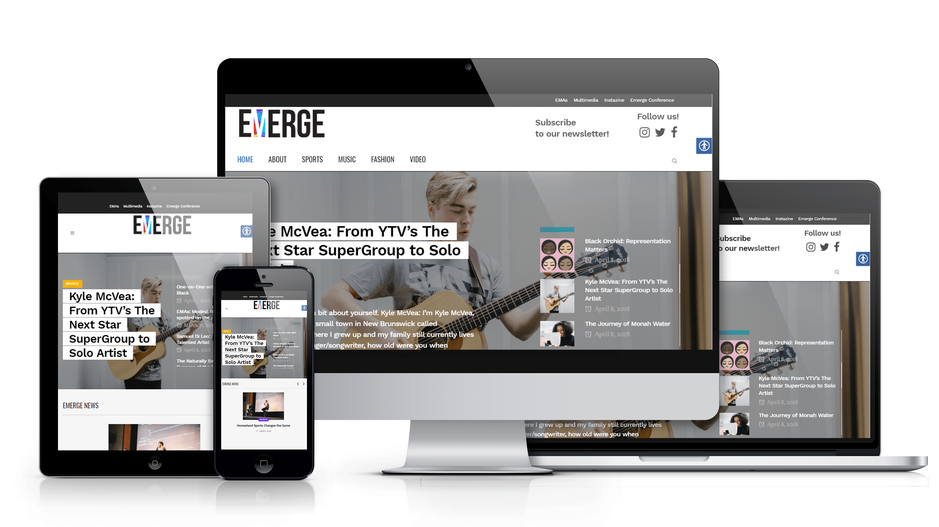responsive web magazine visuals